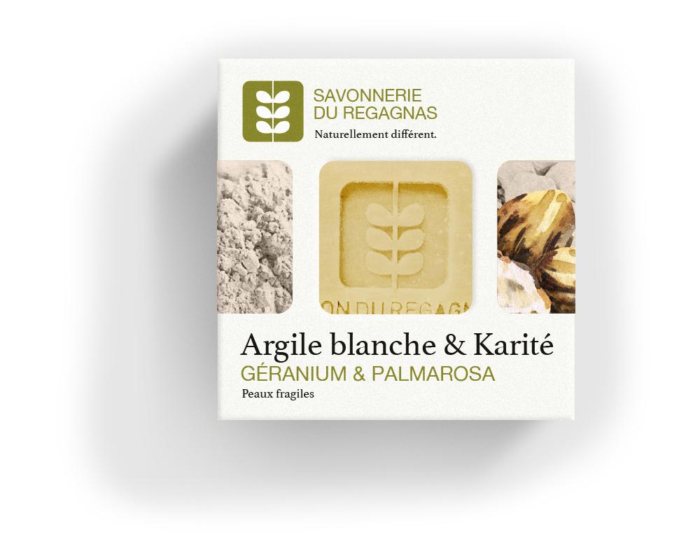 Savon argile blanche & karité